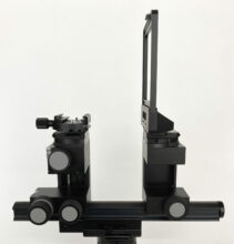 Arca M2 DLSR with MicroOrbix tilt, 30cm rail, fabric bellows
